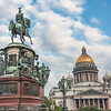 Saint Isaac's Cathedral & statue of Nicholas 1st
