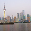 from the Bund: Huangpu River, Oriental Pearl TV Tower, Shanghai