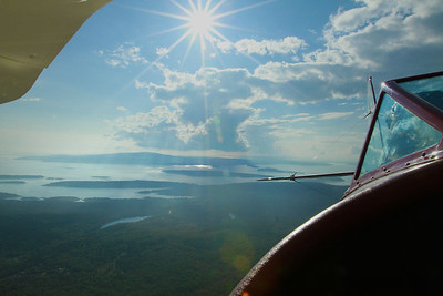 View from The Augustine biplane.