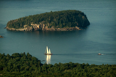 View from the Cadillac Summit of Bar Harbor.