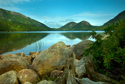 The view of Jordan Pond.
