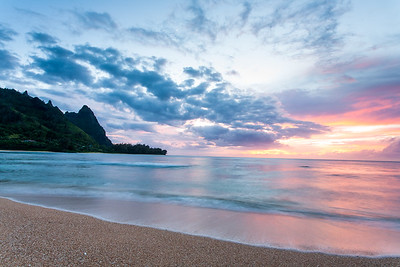 Sunset over Bali Hai, Kauai, from Tunnels Beach