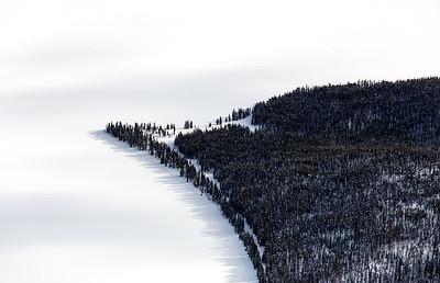 Yellowstone Lake Outcropping