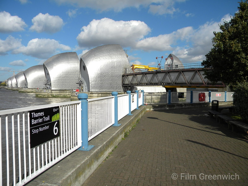 Views from Thames Path - Thames Barrier