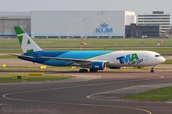 Reg:  CS-TLZOperator:  TMA CargoType:  Boeing 767-375ERF  C/n:  24086 / 248Location:  Amsterdam - Schiphol (AMS / EHAM), NetherlandsPhoto Date:  25 March 2014Photo ID:  1400967