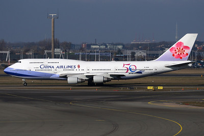 B-18208 - China Airlines , Boeing 747-409 (c/n 29031 l/n 1186)  China Airlines of Taiwan marked this 747 with 50th Anniversary logos, photographed at Amsterdam arriving from Taipei. 09 March 2010