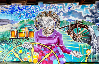 Mural Paintings - under I-240 Downtown Asheville