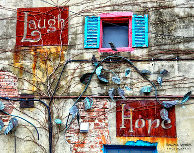 Laugh, Hope and Love Building on Lexington Avenue, downtown Asheville.