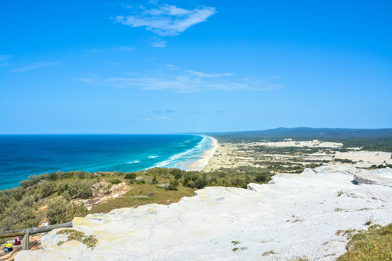 Looking over Eastern Beach - Cape Moreton, Moreton Island