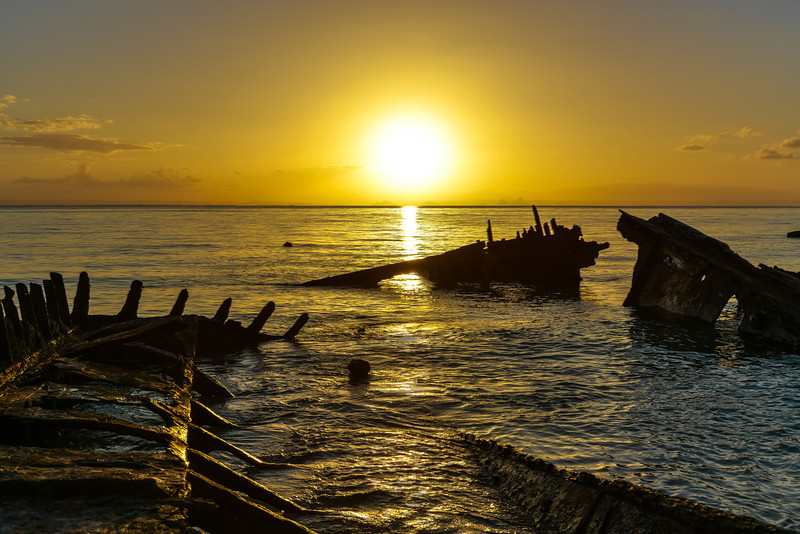Sunset Bulwer wrecks, Moreton Island 17/08/2013