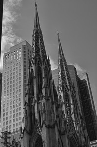 St Patricks Old & New B & W