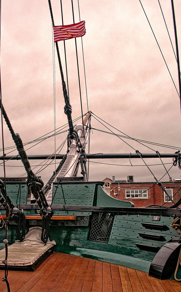 USS Constitution Bow Rigging