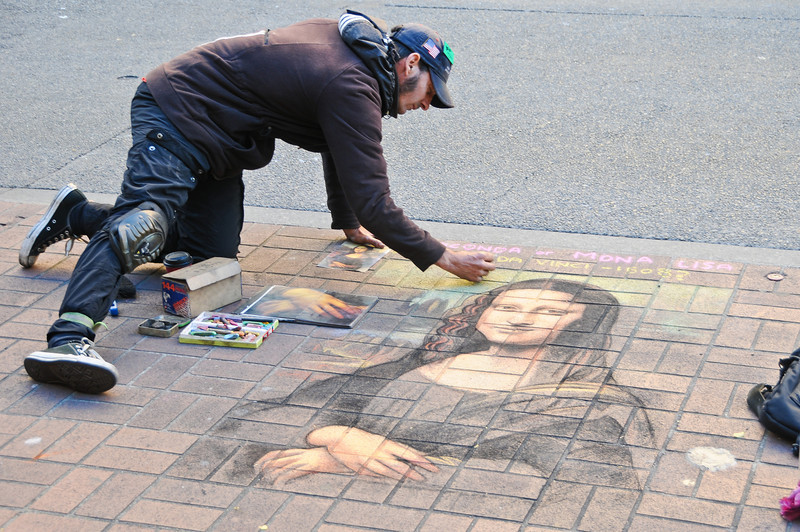 Street art, yes I did give him a tip