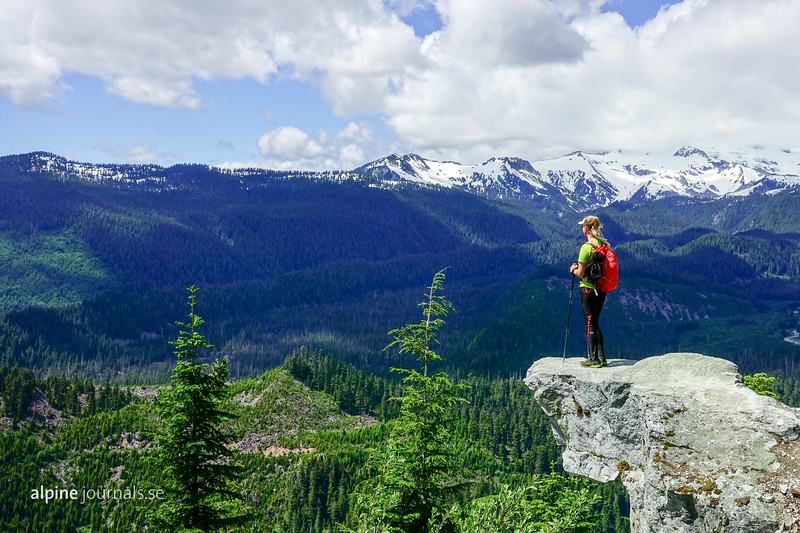 Watersprite Lake Trail offers views over Skookum Creek Valley and the Mamquam River.