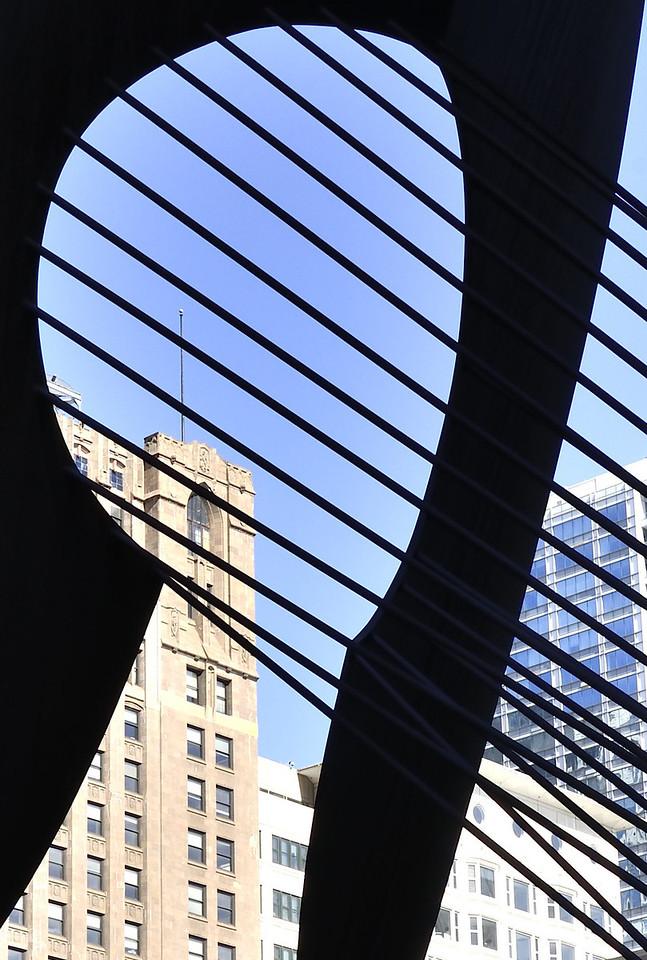Downtown view thru Art