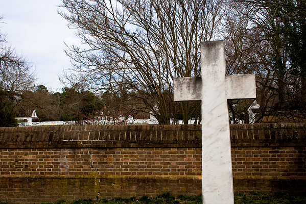 Graveyard Cross Colonial Williamsburg