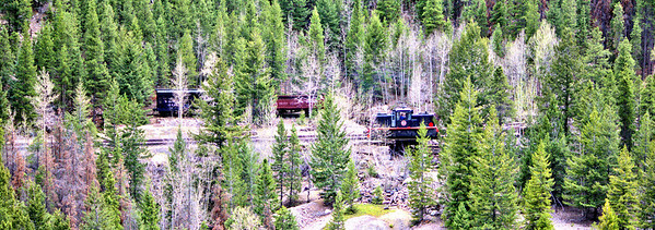 Colorado Mountain Train Panoramic