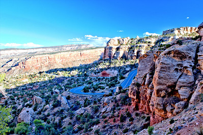 Colorado National Monument Winding Road