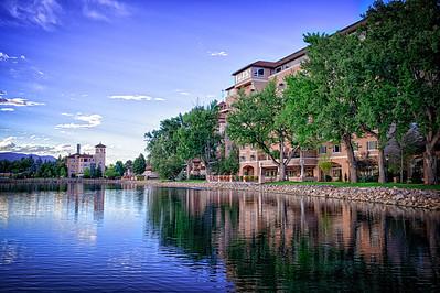 Colorado Springs BroadMoor view from lake
