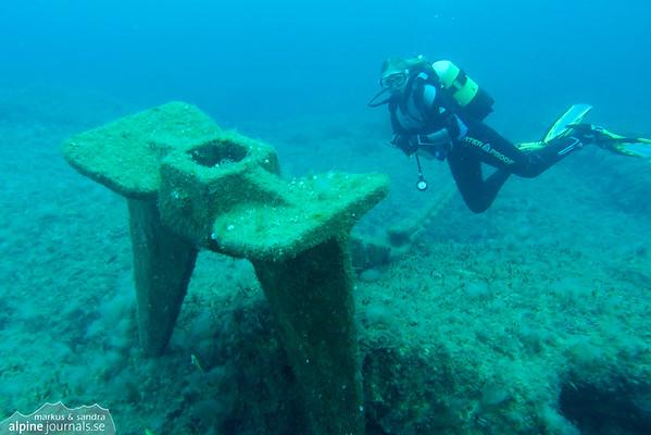"The anchor of Eros III at ""Oniro"", Cyprus"