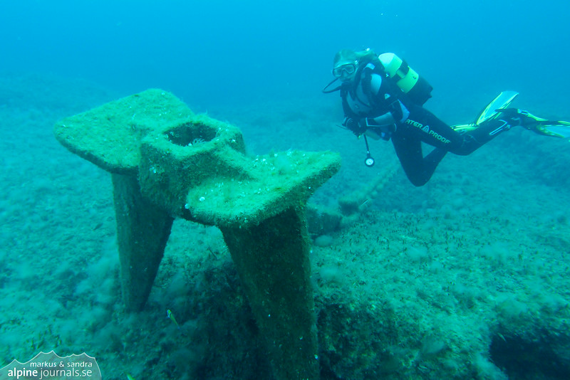 "The anchor of Eros III at ""Oniro"", Cyprus"