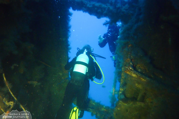 Exiting the bridge of Zenobia
