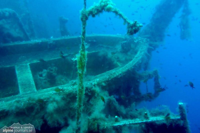 A life boat on the Zenobia