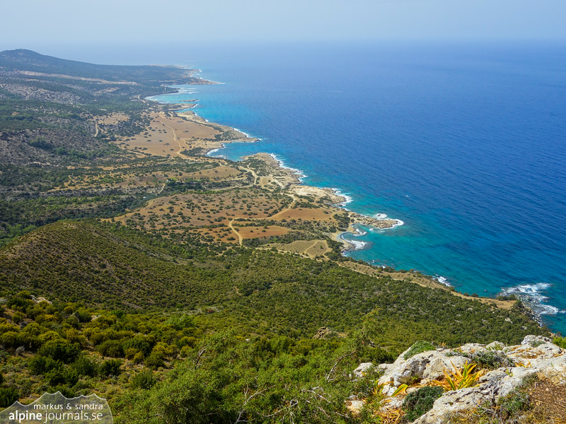 The northern coast of the Akamas peninsula