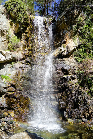 The waterfall at the Caledonia nature trail