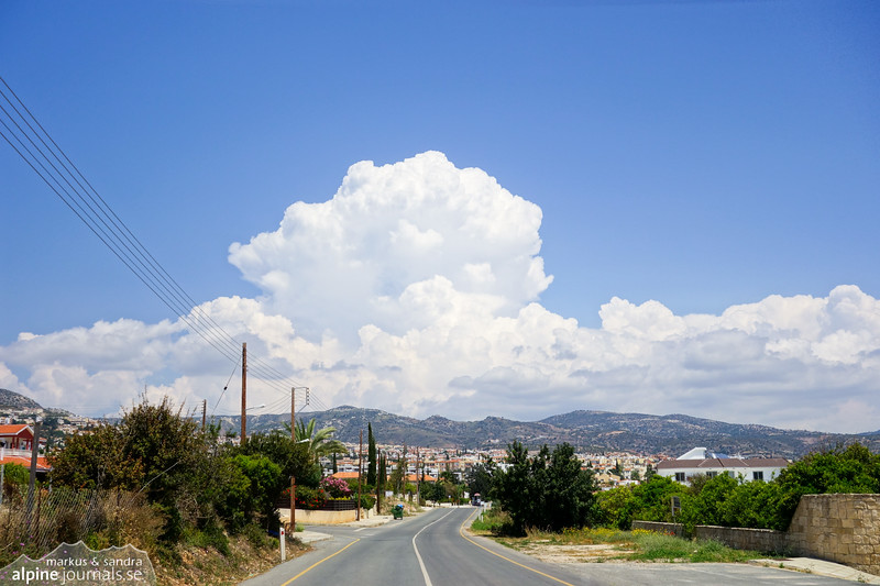 Clouds above Peyia.