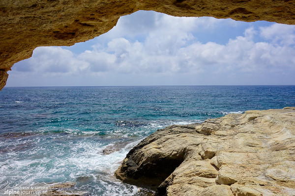Our favorite shaded cave at by the sea at Sea Caves.