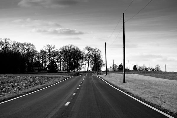 Cruising Down the Road (B&W)