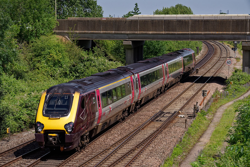 Unidentified Voyager heading north with the 09:45 Bournemouth - Manchester.<br /> 28th June 2019.