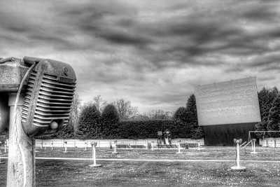 Skyway Drive-In - Fish Creek - Door County, Wisconsin - May, 2013 - Black and White