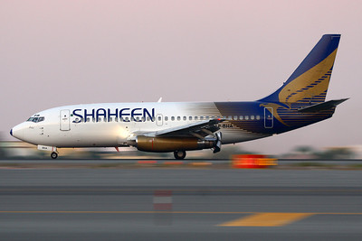 AP-BHA - Shaheen Airlines, Boeing 737-277-Adv (c/n 22645, l/n 768)  Decelerating after landing on Dubai's runway 30L at dusk. 17 November 2009