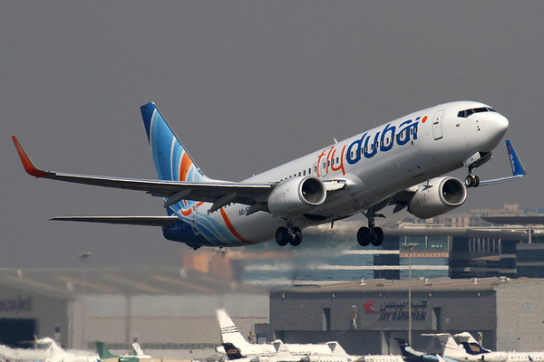 Reg: A6-FDL Operator: flyDubai Type:  Boeing 737-8KNW C/n: 40239 / 3460   Airborne against the back drop of the FBO ramp at Dubai, departing home base on a regional service around the Arabian Gulf.     Photo Date: 14 November 2011 Photo ID: 1200439