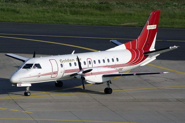 SE-ISE - Golden Air, SAAB 340A (c/n 156)  Built in 1989, this SF340 was seen at Dusseldorf operating services for EAE. 27 May 2004