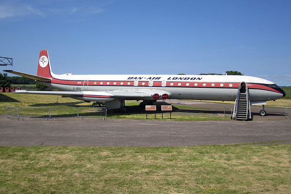 Reg: G-BDIX Operator: Dan-Air London Type:  De Havilland Comet 4C		   C/n: 6471 Location: National Museum of Flight - East Fortune (EG32), UK   Preserved at the National Museum of Flight at East Fortune in Scotland.     Photo Date: 07 July 2013 Photo ID: 1300737