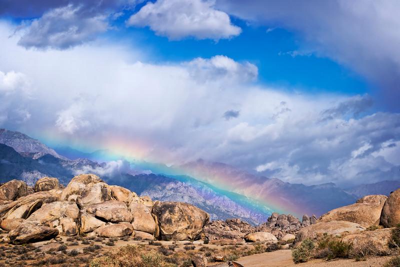 Rainbow in the Alabama Hills
