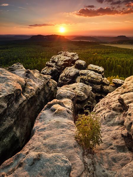 Elbe Sandstone Sunset