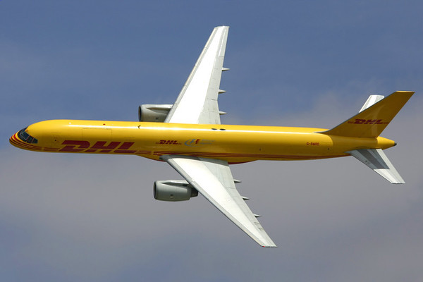 Reg: G-BMRD Operator:  DHL Airlines Type:  Boeing 757-236F		   C/n: 24073 / 166 Location:  Fairford (FFD / EGVA) - UK   Showing the sleek lines of the 757 during an excellent display at the Royal International Air Tattoo in 2007.     Photo Date: 16 July 2007 Photo ID: 1300549