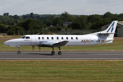EC-GVE - Aeronova, Swearingen SA.227AV Metroliner III (c/n AC-669B)  Rolling out after landing at RAF Fairford, operating a passenger charter into the Royal International Air Tattoo. 17 July 2010