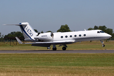 N990GA - Gulfstream Aerospace G.450 (c/n 4020)  Gulfstream demonstrator aircraft landing at Fairford, UK during RIAT06. Since re-registered as N588AT. 15 July 2006