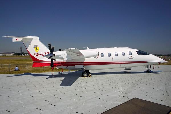 HB-LTZ - Piaggio P-180 Avanti II (c/n 1105)  Lugano based Avanti being used as a demonstrator in the static display at Farnborough Airshow. 18 July 2006