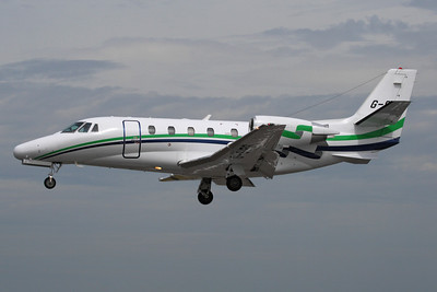 Reg: G-SIRS Type:  Cessna Ce560 Citation Excel		   C/n: 560-5185   This London Executive Aviation Citation is pictured on short finals to runway 24 at Farnborough, arriving before the start of the flying display at the 2010 air-show.     Photo Date: 09 July 2010 Photo ID: 1200452