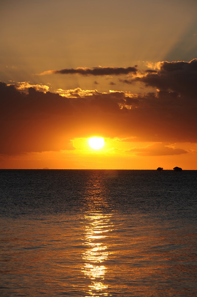 Sunset over Fiji