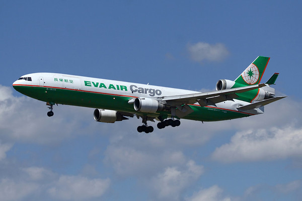 B-16113 - Eva Air Cargo, McDonnell Douglas MD-11F (c/n 48790 l/n 634)  Eva Air operate a fleet of eight MD-11 Freighters alongside a number of dedicated cargo and combi Boeing 747 aircraft. Ship '113 is seen here landing at Frankfurt. 29 June 2008