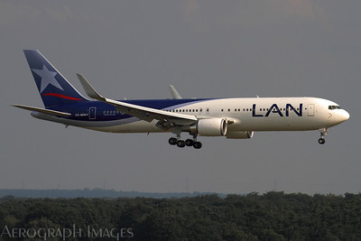 Reg: CC-BDN Operator: LAN Airlines Type:  Boeing 767-316ER		   C/n: 41995 / 1049 Location:  Frankfurt-am-Main (FRA / EDDF), Germany        Photo Date: 29 August 2013 Photo ID: 1300792