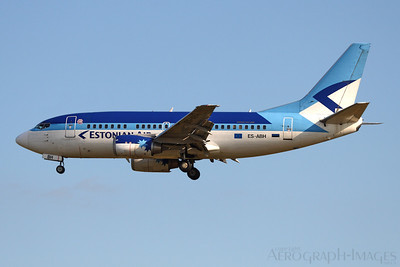 Reg:  ES-ABHOperator:  Estonian AirType:  Boeing 737-53S  C/n:  29074 / 3086Location:  Frankfurt-am-Main (FRA / EDDF), Germany On short finals to Frankfurt's runway 25L, arriving from Tallinn Photo Date:  29 June 2008 Photo ID:  1300852