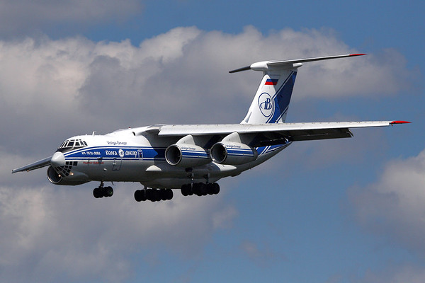 RA-76590 - Volga-Dnepr Airlines, Ilyushin IL-76TD-90VD (c/n 20534 20697)  Volga-Dnepr operate a fleet of four re-engined IL76TD-90s, which meet the recent noise regulations across the EU - here '950 is seen landing at Frankfurt, Germany on a freight charter. 29 June 2008